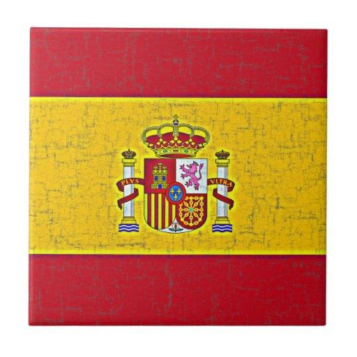 SPAIN FLAG Tile