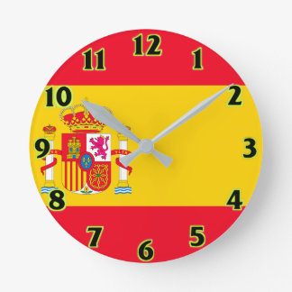 Spain Flag Wall Clocks