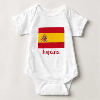 Spain Flag with Name in Spanish Baby Bodysuit