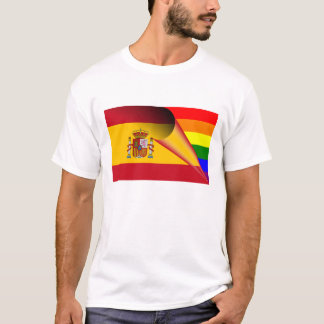 Spain Gay Pride Rainbow Flag T-Shirt