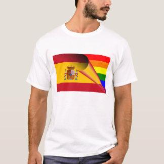 Spain Gay Pride Rainbow Flag T-Shirt