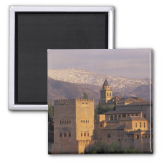 Spain, Granada, Andalucia The Alhambra, 2 Square Magnet