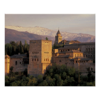 Spain, Granada, Andalucia The Alhambra, Poster