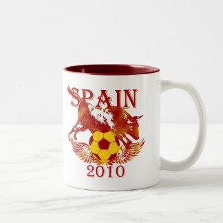 Spain grunge style soccer futbol coffee mug
