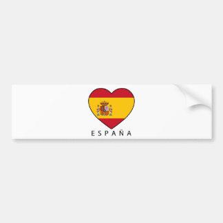 Spain Heart with black ESPANA Bumper Sticker