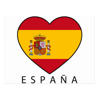 Spain Heart with black ESPANA Postcard