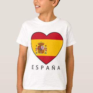Spain Heart with black ESPANA T-Shirt