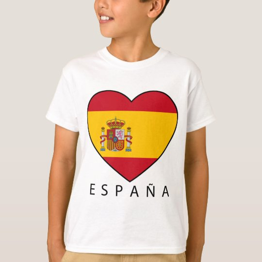 Spain Heart with black ESPANA T-Shirt