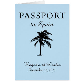 Spain Light Blue Wedding Passport Card