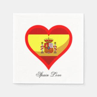 Spain Love Disposable Napkins
