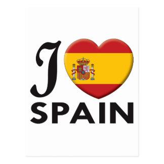 Spain Love Postcard