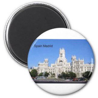 Spain, Madrid City Hall Plaza de Cibeles (St.K) 6 Cm Round Magnet