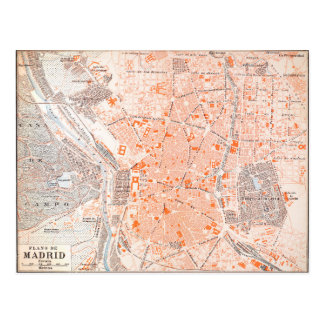 Spain: Madrid Map, C1920 Postcard