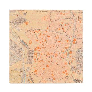 Spain: Madrid Map, C1920 Wood Coaster