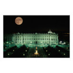 Spain, Madrid, Royal Palace and Plaza de Poster