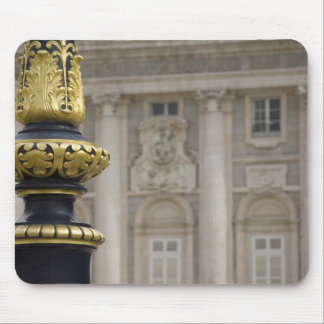 Spain, Madrid. Royal Palace, ornate gilded lamp Mouse Mat
