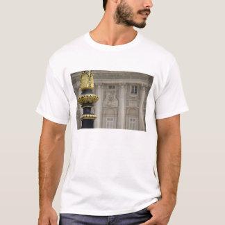 Spain, Madrid. Royal Palace, ornate gilded lamp T-Shirt