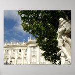 Spain, Madrid. Royal Palace. Poster