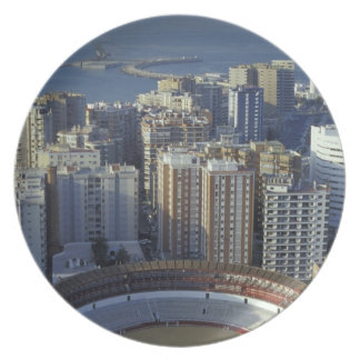Spain, Malaga, Andalucia View of Plaza de Toros Dinner Plates