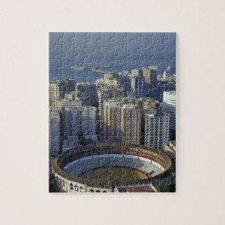 Spain, Malaga, Andalucia View of Plaza de Toros Jigsaw Puzzle