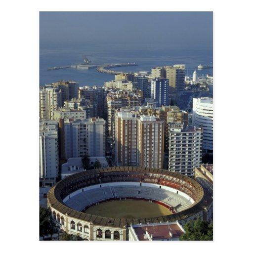 Spain, Malaga, Andalucia View of Plaza de Toros Post Card