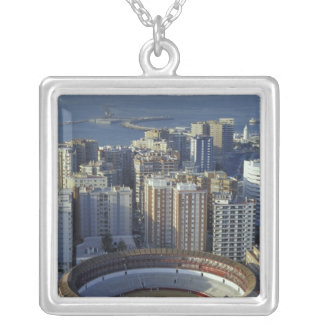 Spain, Malaga, Andalucia View of Plaza de Toros Silver Plated Necklace