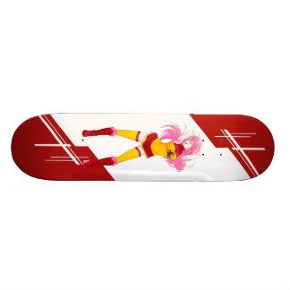 Spain Manga girl dressed in flag Spanish 20 Cm Skateboard Deck