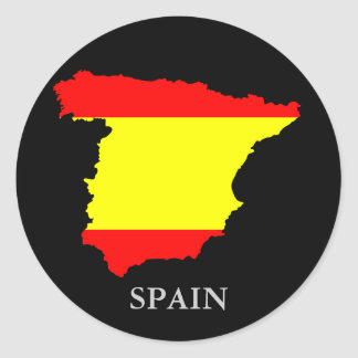 Spain map and flag - sticker