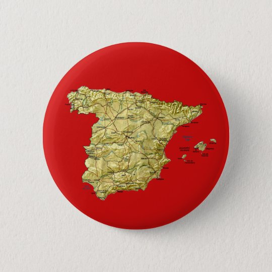 Spain Map Button