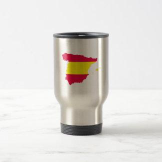 Spain Map Flag Stainless Steel Travel Mug