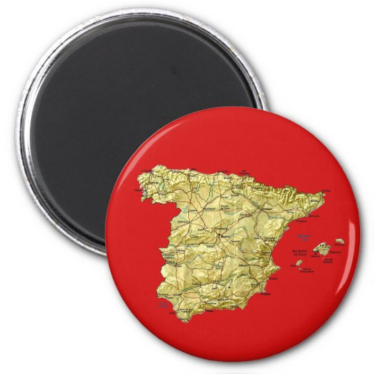 Spain Map Magnet