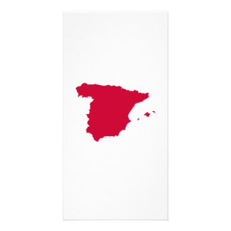 Spain map photo greeting card