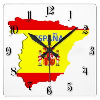 Spain map wallclocks