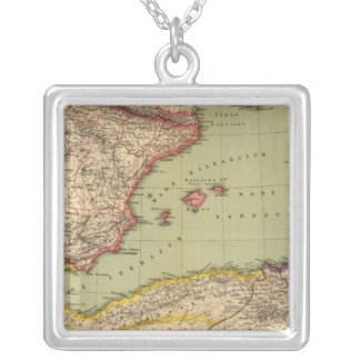 Spain, Mauritania and Africa Silver Plated Necklace