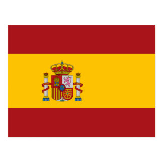 Spain National Flag Postcard