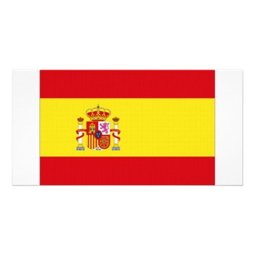 Spain National Flag simplified Photo Greeting Card