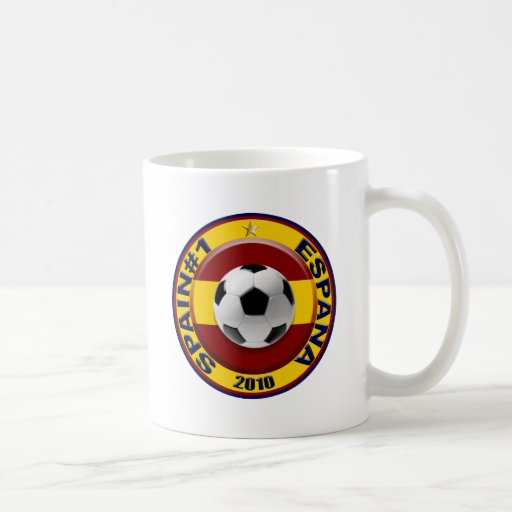 Spain number 1 2010 Soccer Gift Classic White Coffee Mug