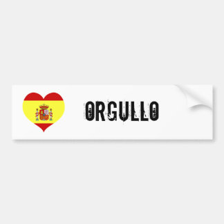 Spain orgullo bumper sticker