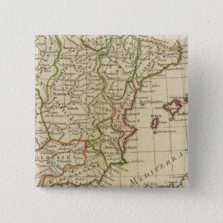 Spain, Portugal 3 15 Cm Square Badge