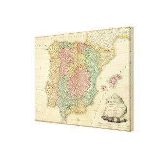 Spain, Portugal 3 Canvas Print