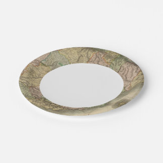 Spain, Portugal 7 7 Inch Paper Plate