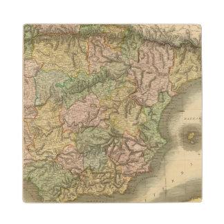 Spain, Portugal 7 Wood Coaster