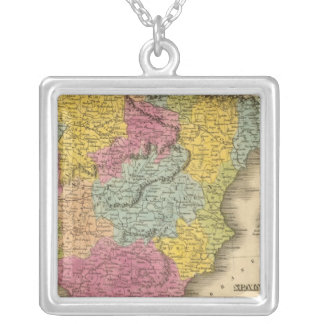 Spain, Portugal 8 Silver Plated Necklace