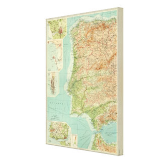 Spain & Portugal western section Canvas Print