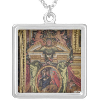 Spain Recognising the Pre-Eminence of France Silver Plated Necklace