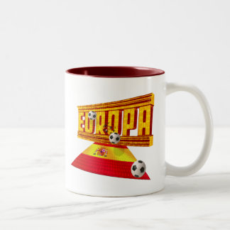 Spain Road to Europe soccer futbol gifts ideas Two-Tone Mug