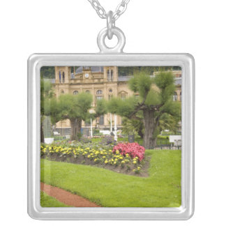 Spain, San Sebastian. Popular seaside resort, Silver Plated Necklace