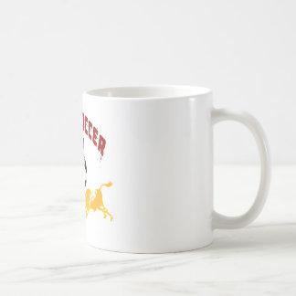 Spain Soccer 2010 La Furia Bull Toro Gift Basic White Mug