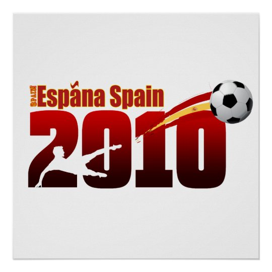 Spain soccer 2010 Maroon logo gifts Poster