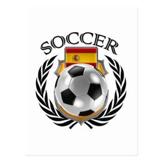 Spain Soccer 2016 Fan Gear Postcard